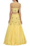 Floral embroidered lehenga with blouse & dupatta