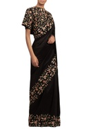 Floral embroidered sari with blouse