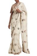 Booti work embroidered sari & blouse