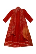Floor length gown with cape