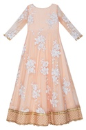 Sequin embroidered anarkali with dupatta