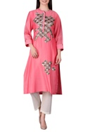 Mughal jaali motif embroidered tunic