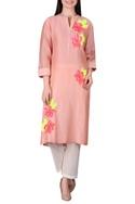 Rose motif embellished tunic