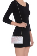 Rose marble textured clutch