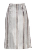 Embroidered skirt with slit