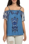 Patchwork embroidered top