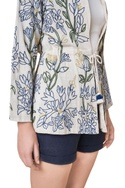 Hand woven embroidered open jacket