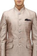 Dupion silk textured bandhgala