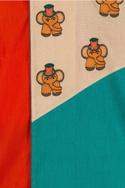 Embroidered kurta with churidar
