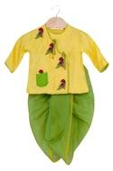 Embroidered kurta & dhoti set