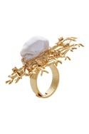 Embellished pearl finger ring