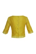 Diagonal print blouse
