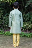 Pleated  long kurta with churidar