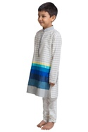 Multi stripe kurta set