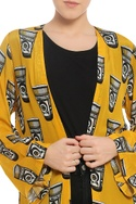 Printed vintage glass open jacket