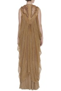 Draped cowl & layered gown