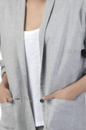 Blazer jacket with front pockets