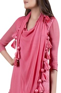 Tunic with attached drape
