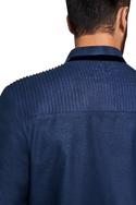 Zari textured buttons kurta