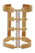 Cuff with white stones