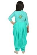 Embroidered cowl kurta set