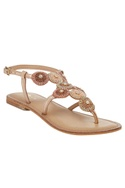 Stone & Beaded Back Strap Sandals