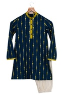 Gota Embroidered Jacket With Kurta & Churidaar