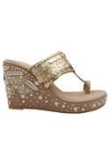 3D Flower Embroidered Wedges