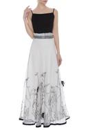 Cord work maxi skirt