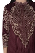 Embroidered kurta with pants & dupatta.