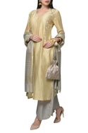 Embroidered kurta with pants & dupatta