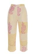 Block printed culotte pants