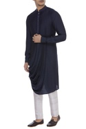 Cowl pleated long kurta