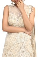 Sequin Embroidered Skirt With Draped Saree