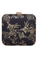 Floral printed square clutch