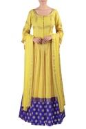 Woven blouse with lehenga & dupatta