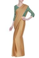 Midwaist embroidered saree blouse