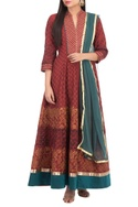 Printed anarkali set with dupatta