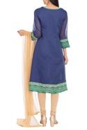 Applique embroidered kurta set