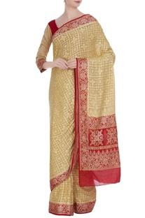 Khadi pure georgette saree & blouse