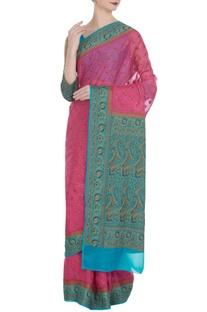 Paisley saree & long sleeve blouse