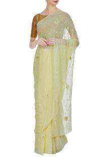 Pure chiffon resham saree & unstitched blouse