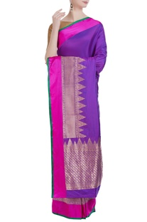 Banarasi silk saree & unstitched blouse