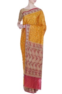 Banarasi silk saree with unstitched blouse