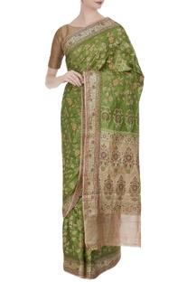 Tussar banarasi resham saree & unstitched blouse