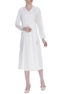 Angrakha Side Tie Up Dress