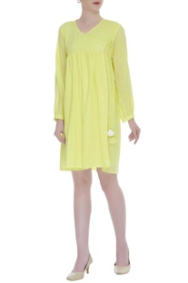 Angrakha Full Sleeve Dress