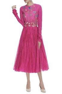 Parsi & Sequin Embroidered Midi Dress