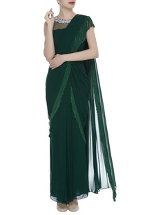 Tassel Pre-Stitched Saree With Blouse