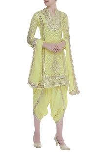 Gota Embroidered Kurta Dhoti pant Set